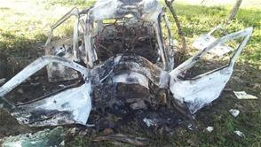 Santiago: Joven de 18 años muere quemado al incendiarse vehículo en que viajaba