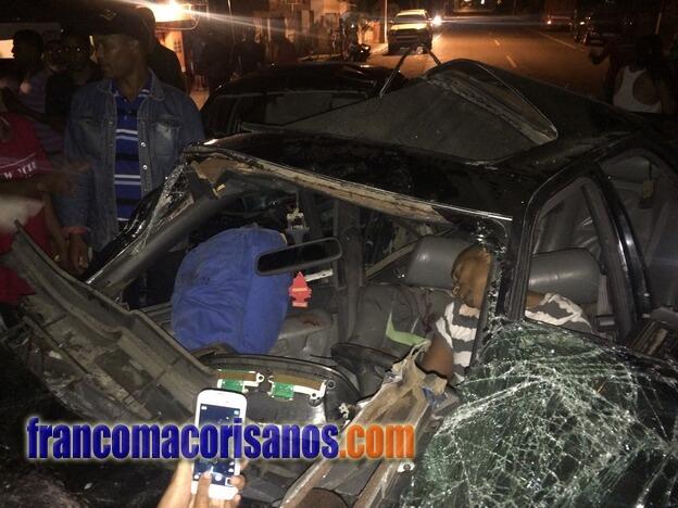 Dos muertos en fatal accidente ocurrido esta madrugada en SFM