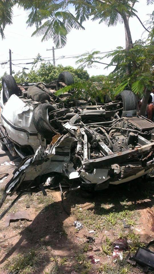 Accidente deja dos muertos y siete heridos en La Vega