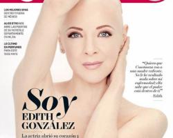 Edith González posa sin peluca para la portada de una revista
